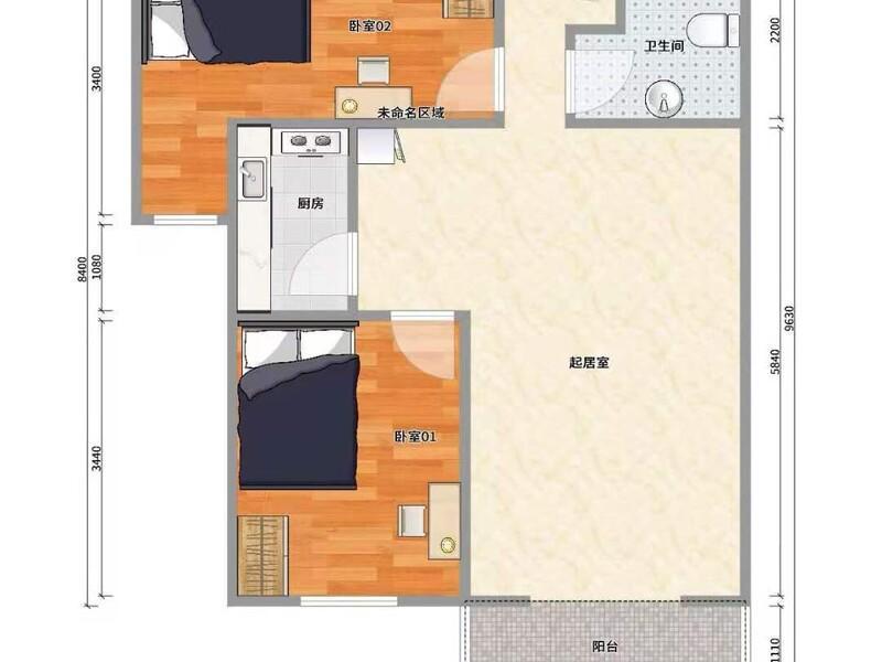 回龙观七燕路1号院整租房源户型图