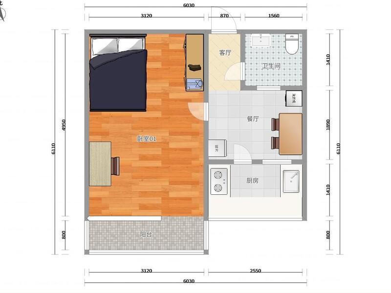 萬壽路復興路61號院整租房源戶型圖