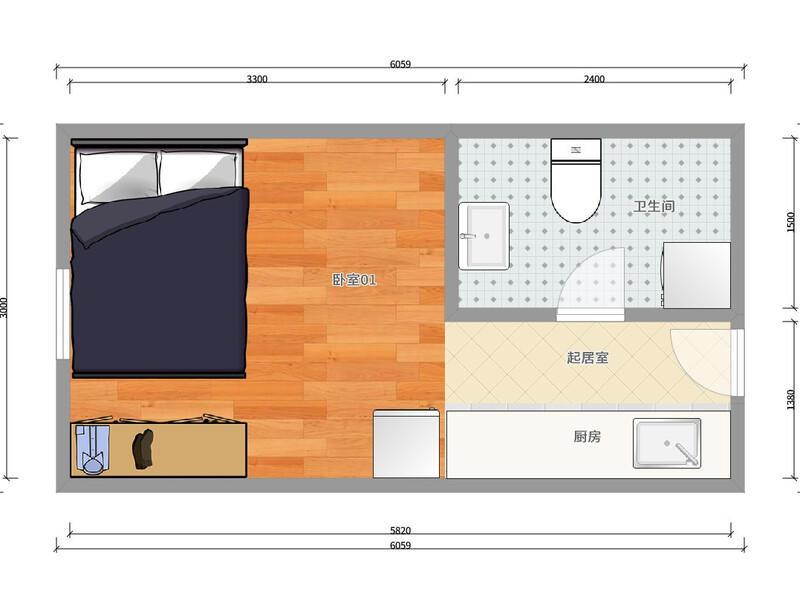 崇文门新景家园东区整租房源户型图