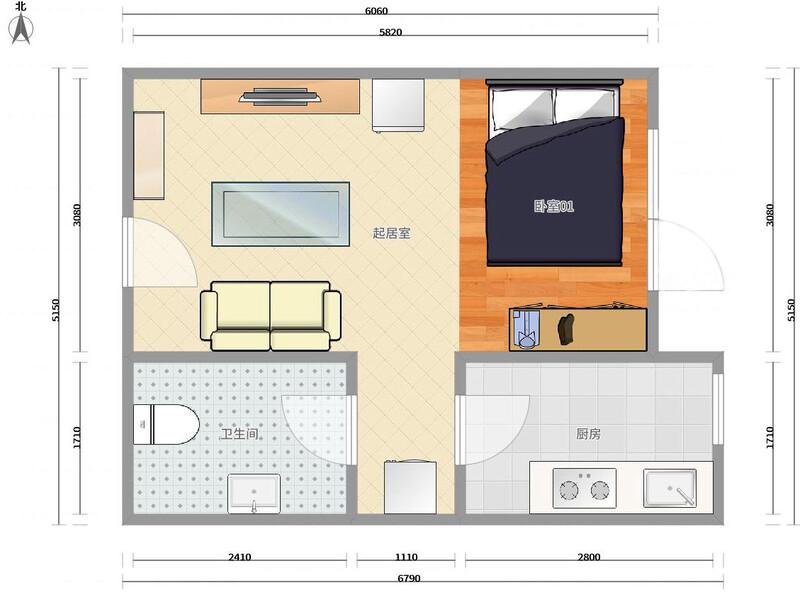 潞苑K2清水湾整租房源户型图